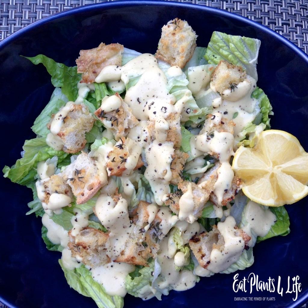 Salad Dressing Purgatory: Creamy Vegan Caesar Dressing 2