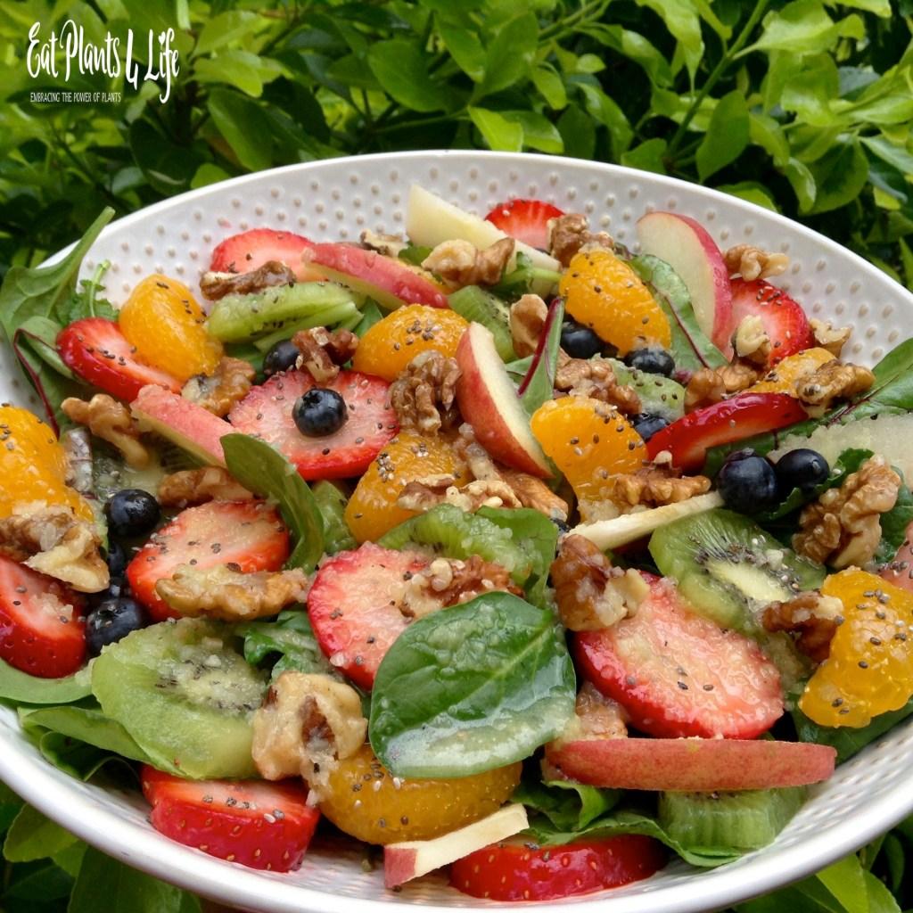 A Plate of Gold: Rainbow Salad & Fuji Vinaigrette 5