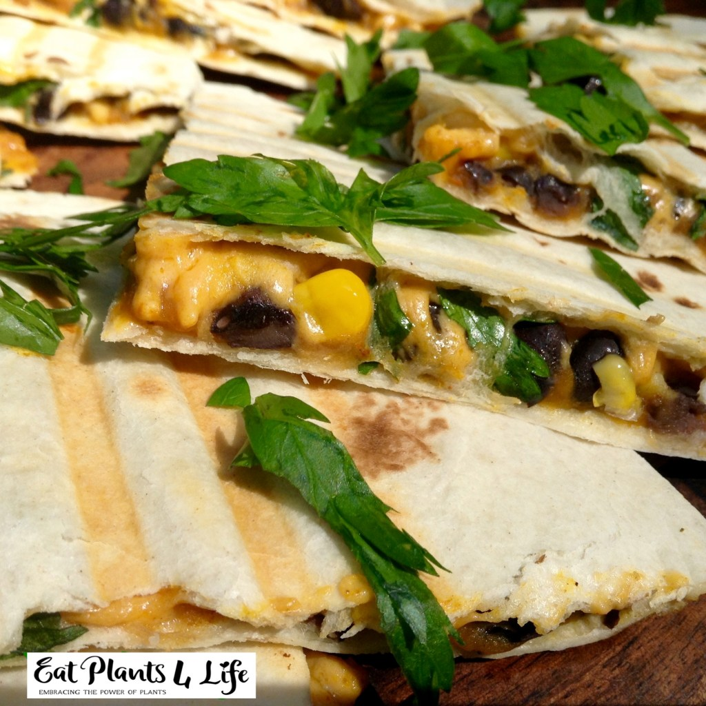 Pumpkin-Black Bean Quesadillas Recipe 3 | Eat Plants 4 Life