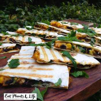 Pumpkin-Black Bean Quesadillas Recipe 2 | Eat Plants 4 Life