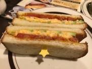 Avocado and shrimp sandwich