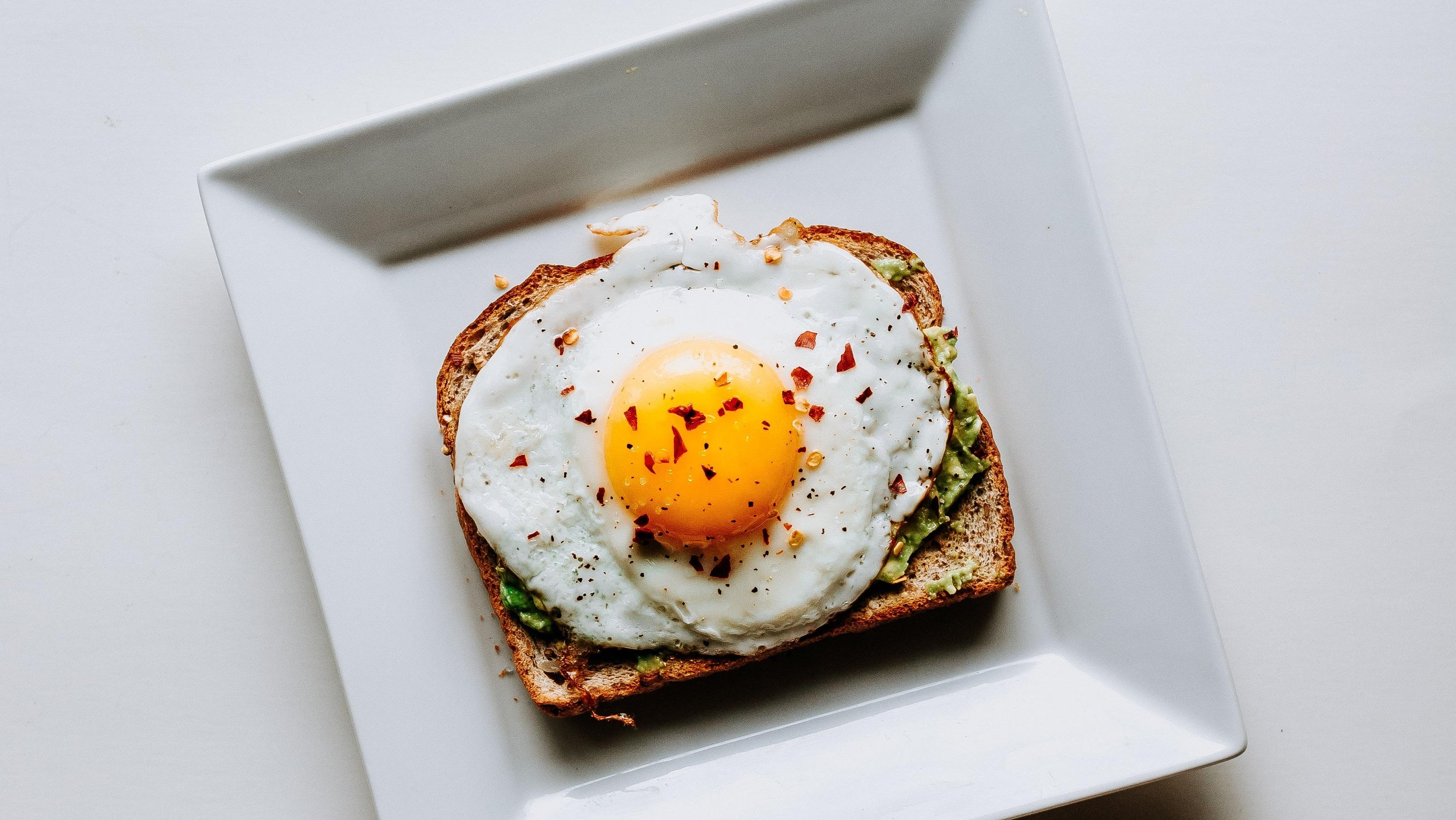 Ezekiel Bread Toast with Avocado and Egg