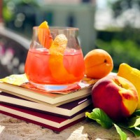 Oscars Cocktails:: Apricot Negroni Spritzer Recipe, Inspired By Call Me By Your Name