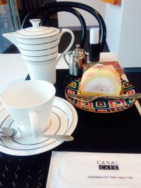Canal Cafe's dessert and coffee set