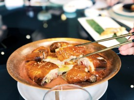 Cantonese-style chicken at Canton Table on the Bund in Shanghai
