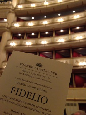 Fidelio at the Wiener Staatsoper: not sure what was more amazing, the show or the sheer beauty of the architecture