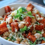 Moroccan sweet potato, chickpea and cous cous salad recipe