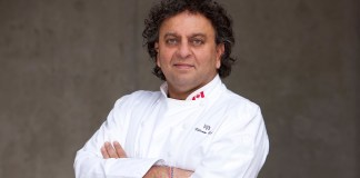 Vikram Vij of Vij's Restaurant, Rangoli, and Vij's Railway Express in Vancouver, and My Shanti in Surrey, British Columbia, Canada. Photo credit: Jordan Junck.