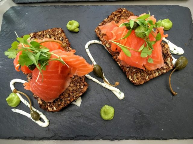 Smoked salmon sandwich from The Chop House. Photo credit: Stephen Tang.