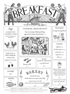 Quo Vadis breakfast menu