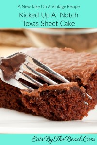 A take on a vintage recipe, this Kicked Up A Notch Texas Sheet Cake is fudgy, rich, and moist with a boiled fudge icing that is beyond description.