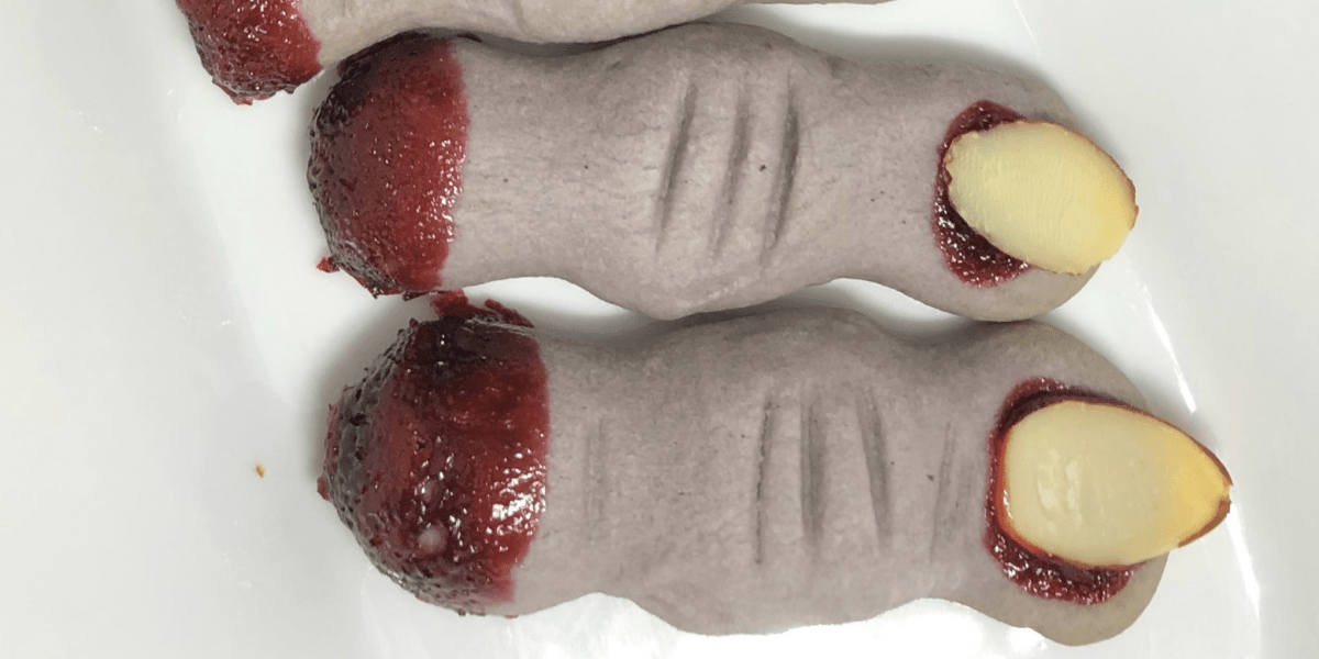 SEVERED MONSTER FINGER COOKIES