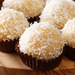 Brazilian coconut kisses candy - sweet coconut candy that is fudge like, rich, and delicious.
