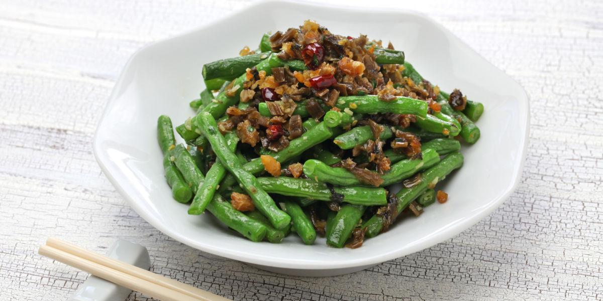 SICHUAN DRY FRIED GREEN BEANS