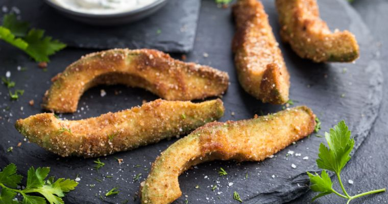 CRISPY AVOCADO FINGERS with spicy lime crema