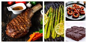 Father's Day Menu collage of recipes