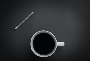 Black coffee for a boost of energy.