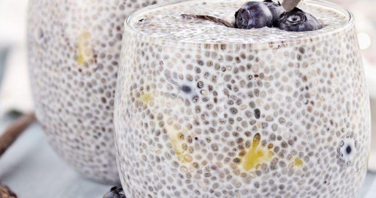 Vanilla Blueberry Chia Seed Breakfast Pudding