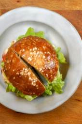 Lettuce and Tomato Cheeseburger Featured