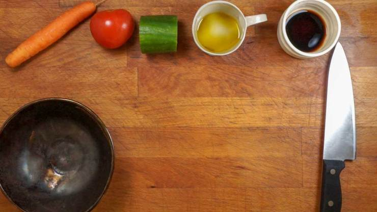 Simple and Quick Vegetable Vinaigrette Ingredients