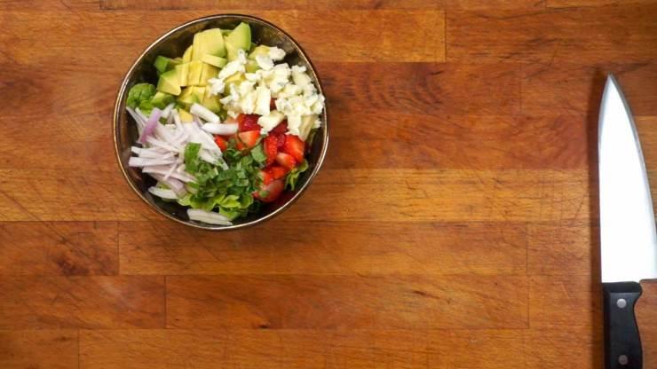Strawberry Avocado Salad All Chopped Up