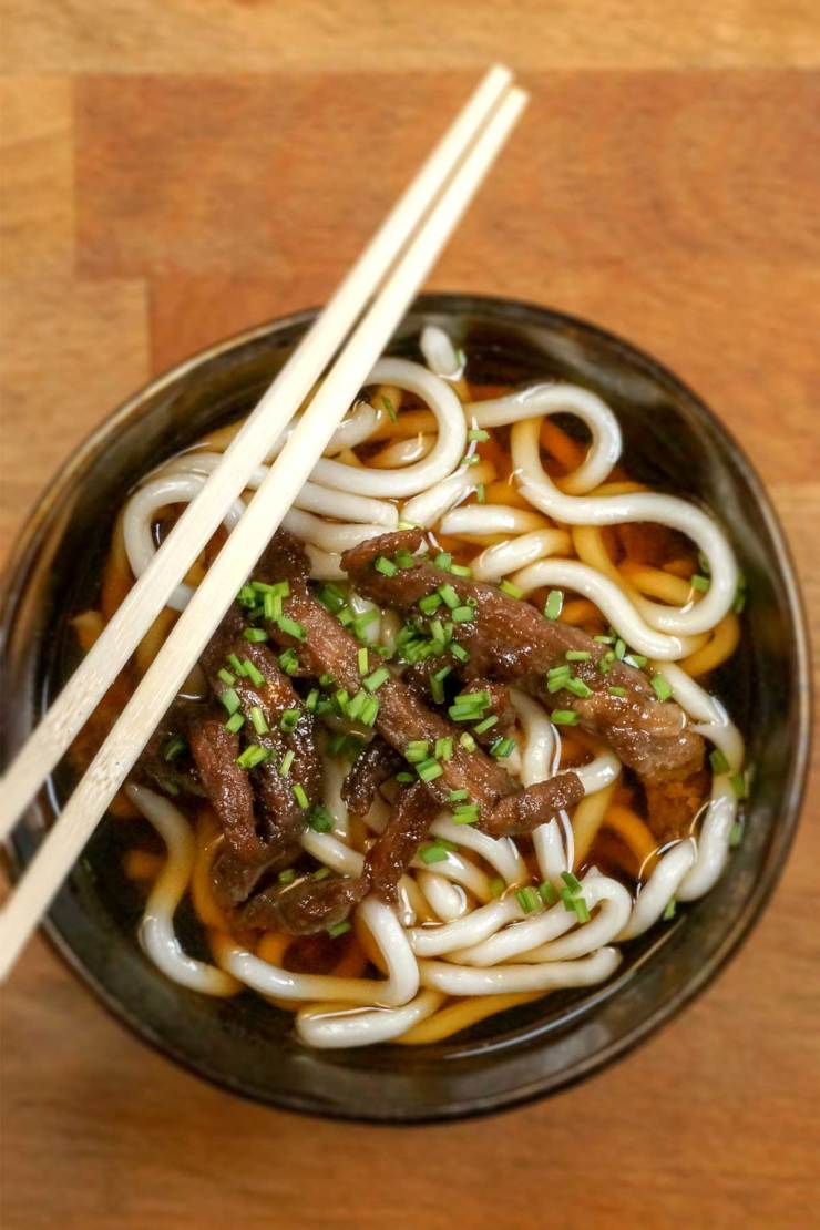 Sweet and Salty Beef Udon