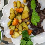 Pan seared steak with chimichurri sauce recipe