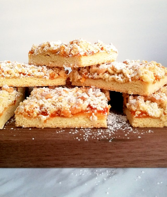 apricot jam bars side view