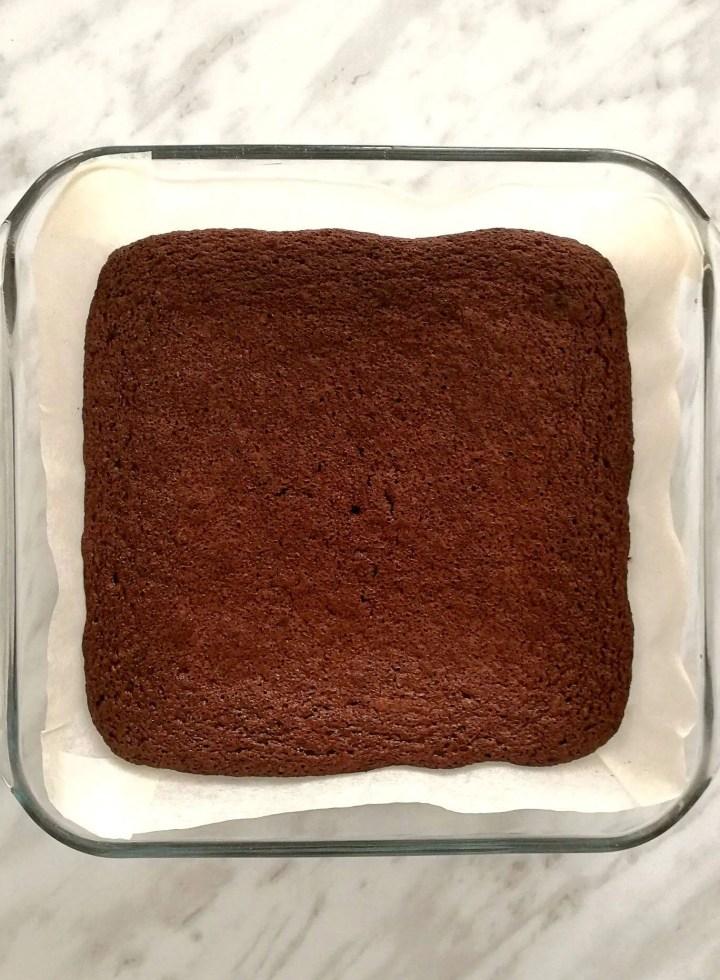 baked brownies in baking pan