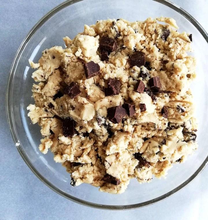 edible cookie dough in bowl