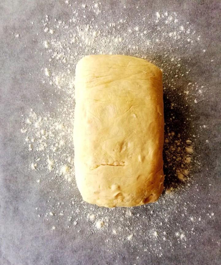 croissant dough ready to shape