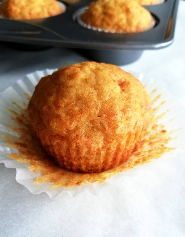 carrot cake muffin unwrapped