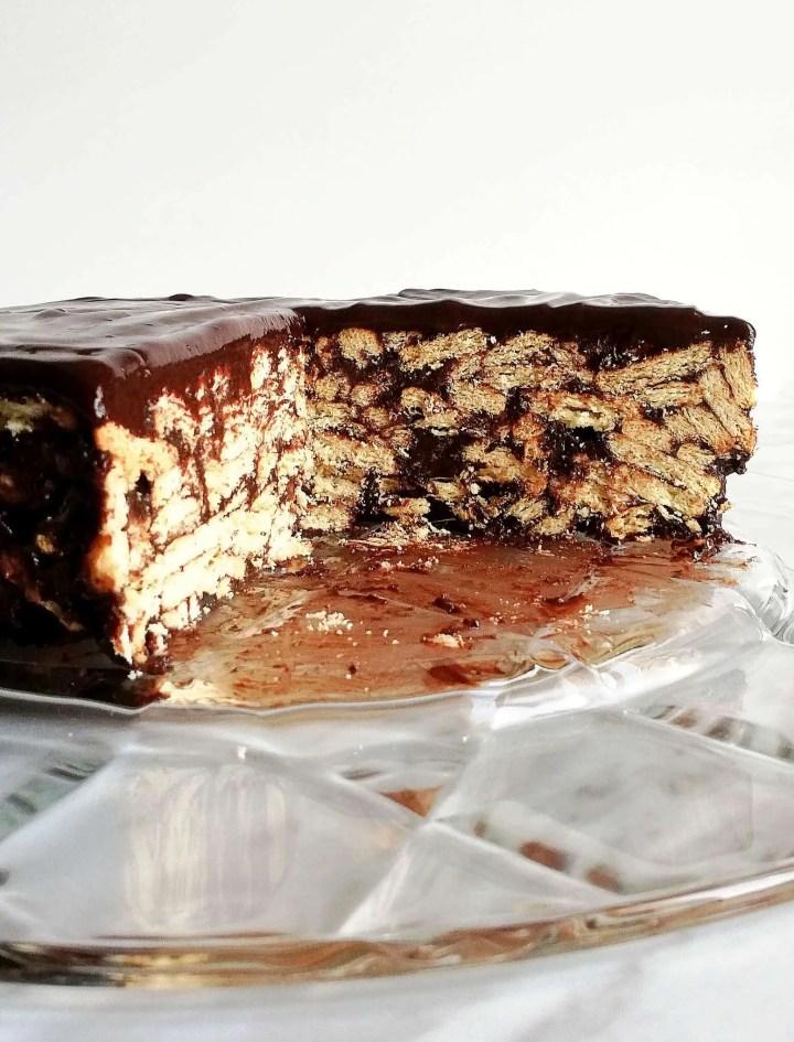chocolate lazy cake inside view