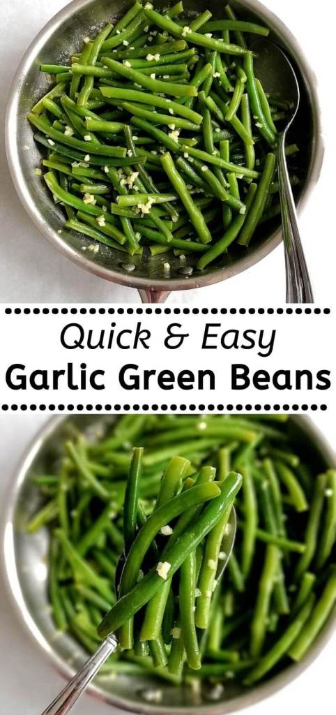 how to make quick and easy garlic green beans