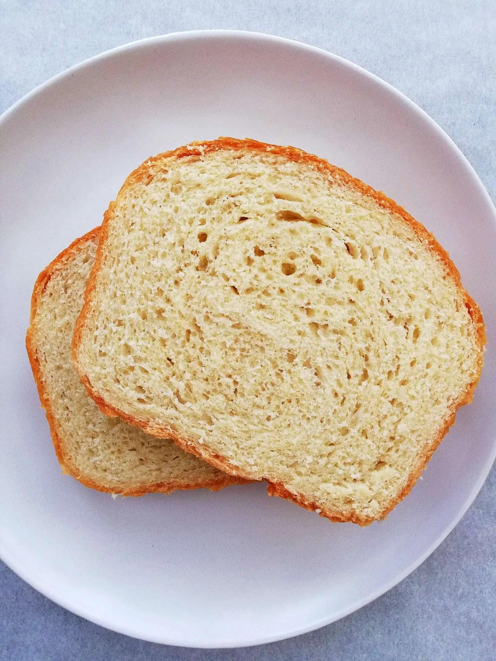 sandwich bread slices in plate
