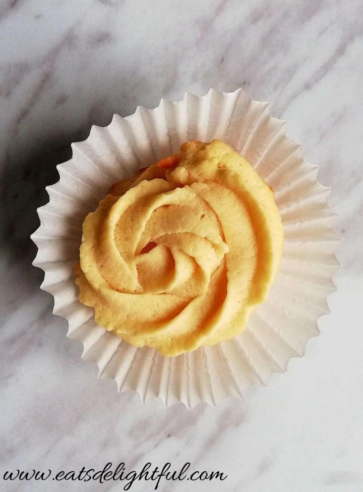 danish butter cookies in cupcake liner baked