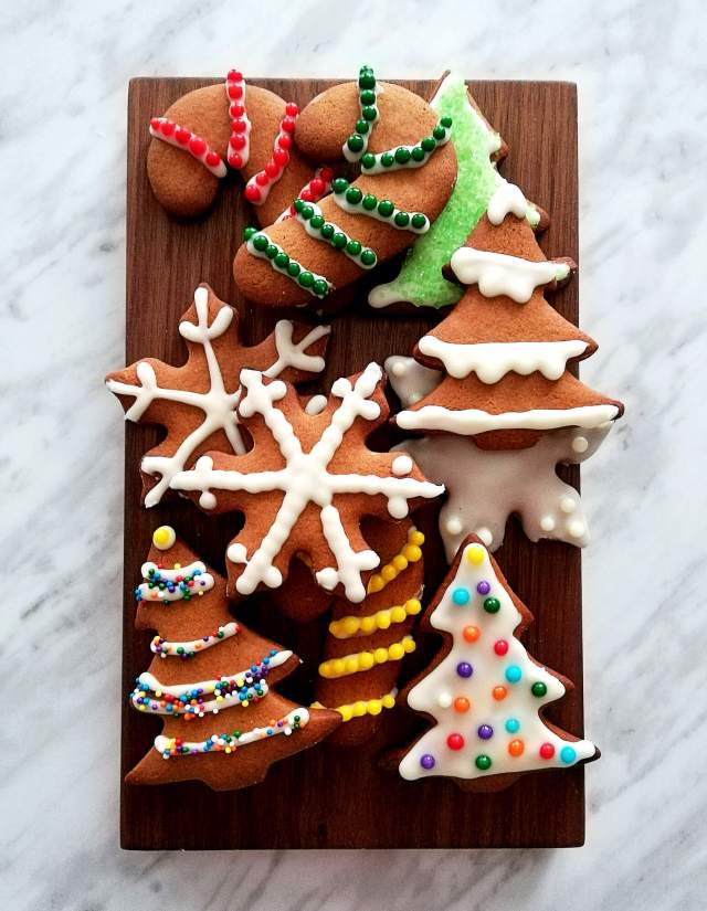 gingerbread cookies on serving board