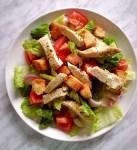 chicken salad in plate