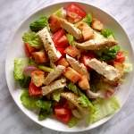 chicken salad in plate