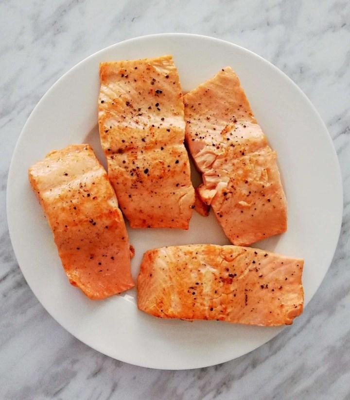 honey garlic salmon partially cooked salmon