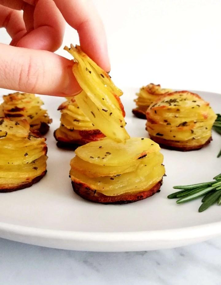 potato stacks peeling off layer