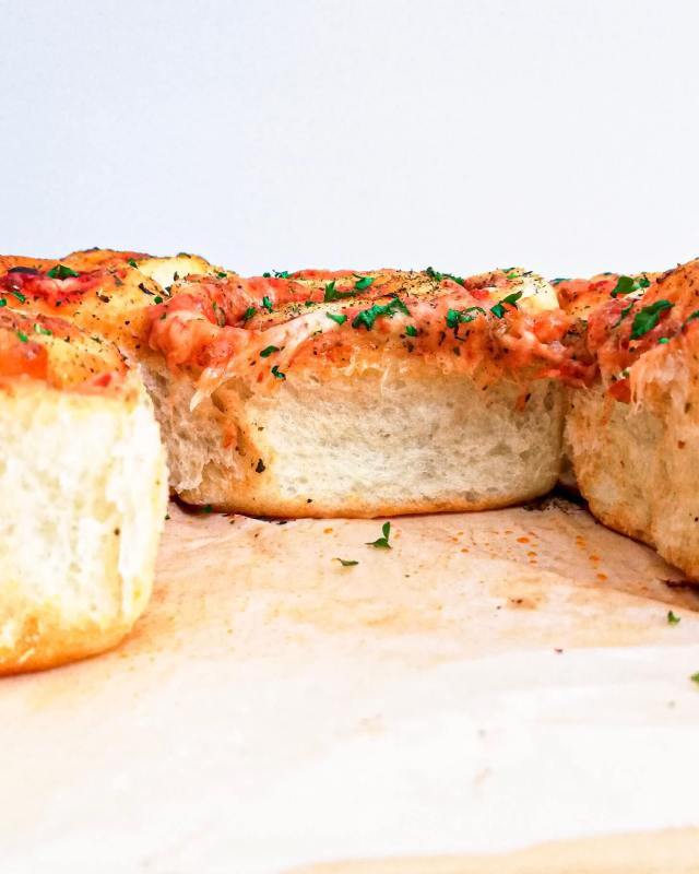 pizza rolls inside view