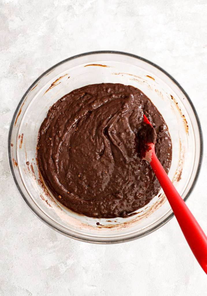 chocolate bundt cake wet and dry ingredients combined