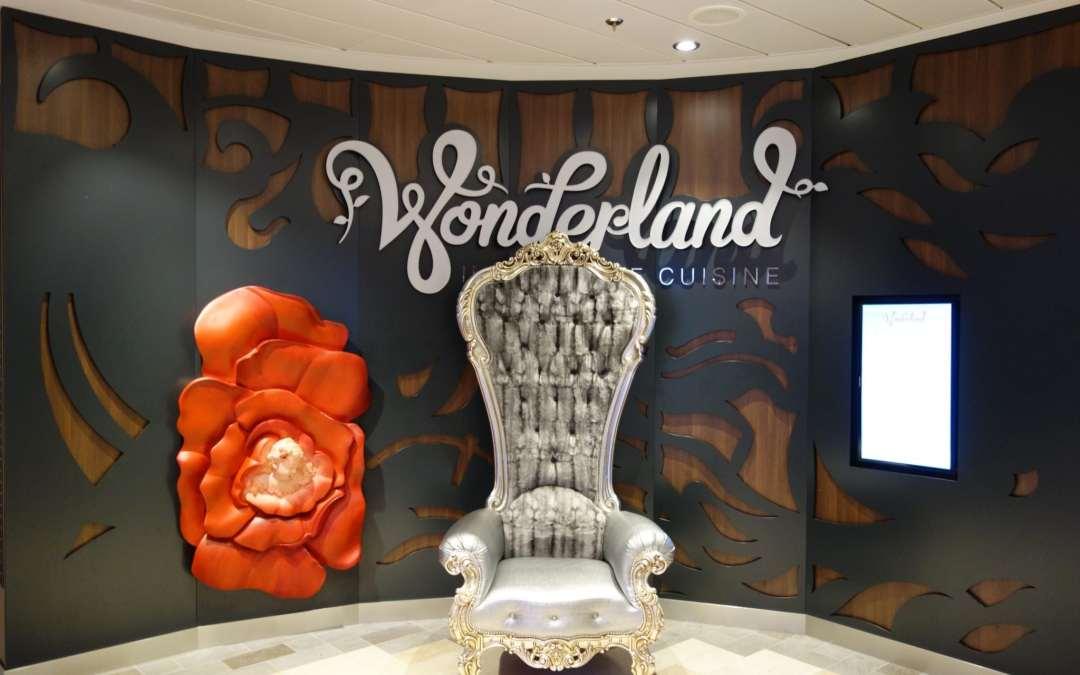 Quantum of the Seas: Dynamic Dining Review Wonderland Restaurant