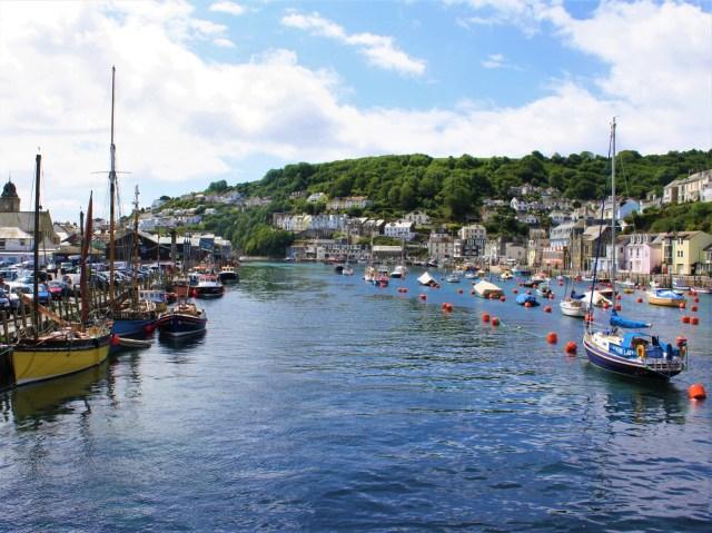 Looe fishing town in Cornwall