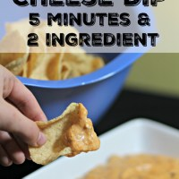 Chili Cheese Dip- 2 Ingredient, 5 Minutes