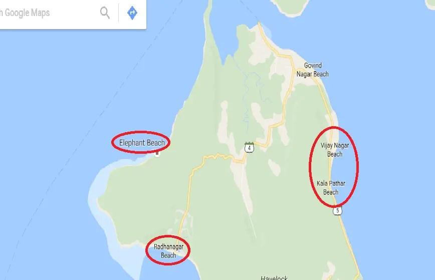 Map of Havelock Island