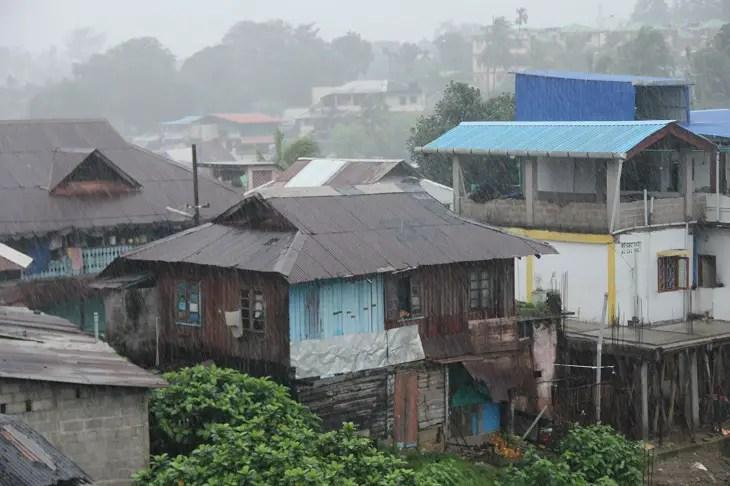 Port Blair, poring rain
