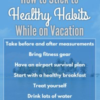 How to Stick to Healthy Habits While on Vacation