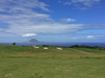 Seven of 18 holes completed at Kittitian Hill - an Ian Woosnam design